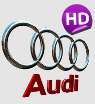 3D AUDI Logo HD Live Wallpaper - Украшательства